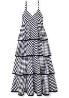 J.Crew Spiro Tiered Gingham Cotton-poplin Midi Dress