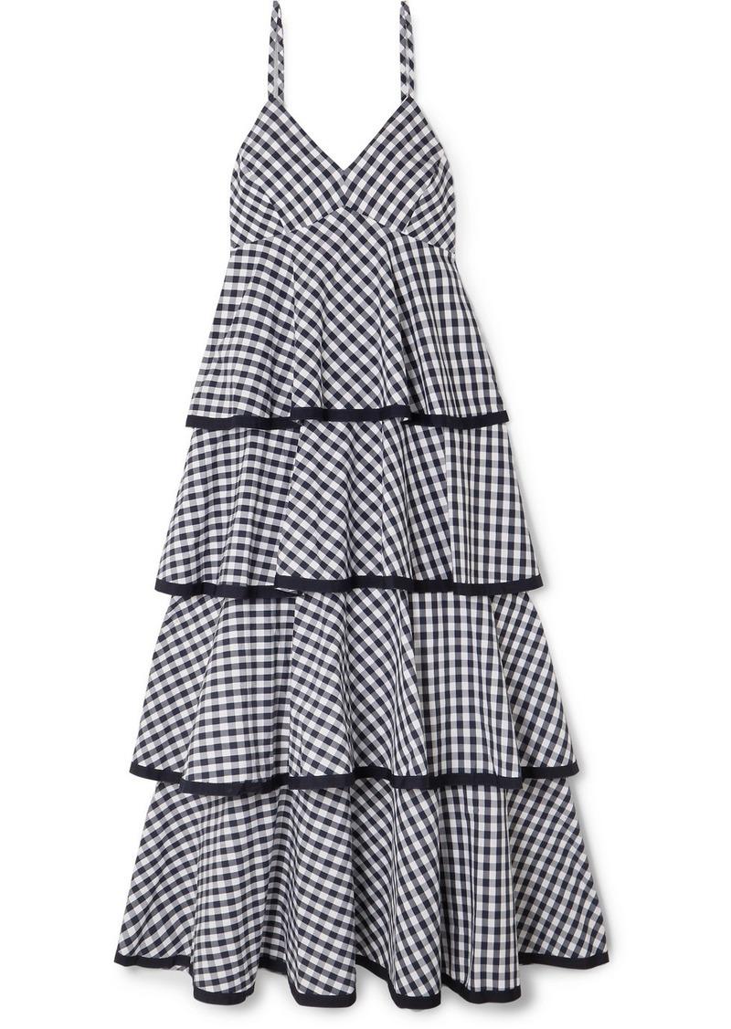 J.Crew Spiro Tiered Gingham Cotton-poplin Midi Dress
