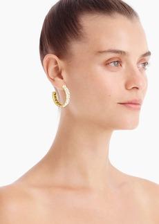 J.Crew Square gem hoop earrings