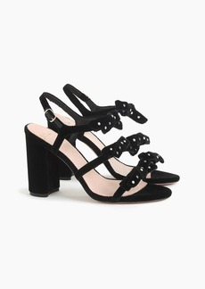 J.Crew Stella bow heels in embellished velvet