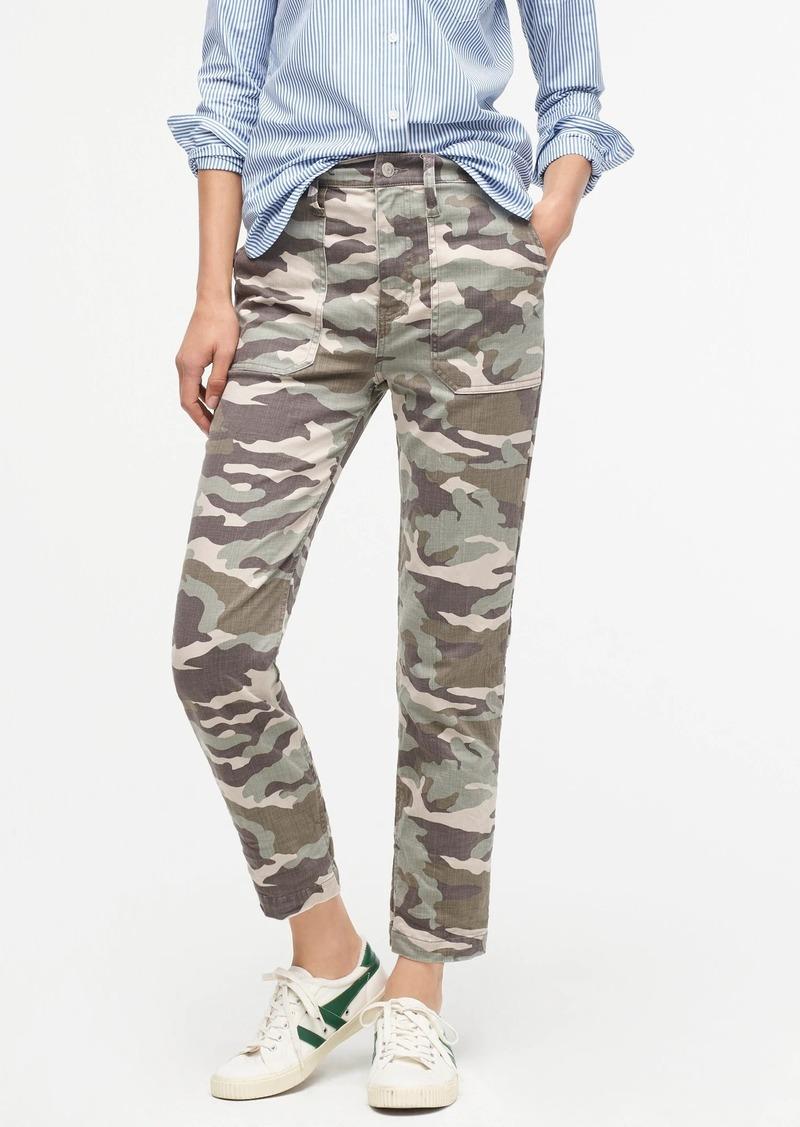 J.Crew Straight-leg crop pant in camo soft sateen