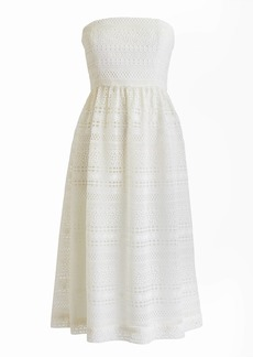 J.Crew Strapless dress in mixed lace