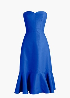 J.Crew Strapless ruffle-hem dress in faille