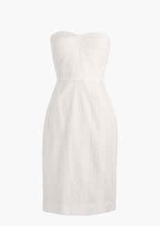 Tall strapless sheath dress in eyelet