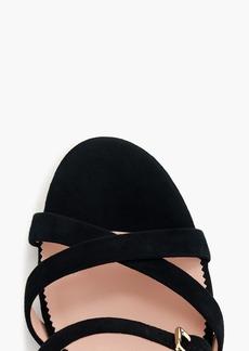 30246f002eb J.Crew Strappy block-heel sandals in suede