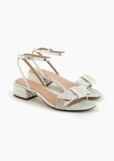 J.Crew Strappy block-heel sandals (60mm) in glitter