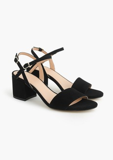 J.Crew Strappy block-heel sandals (60mm) in suede