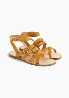 J.Crew Strappy buckled sandals in suede