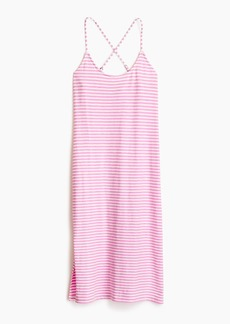 J.Crew Strappy knit midi dress in stripe