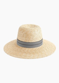 J.Crew Straw hat with grosgrain ribbon