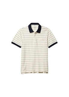 J.Crew Stretch Pique Walker Stripe Short Sleeve Pocket Polo