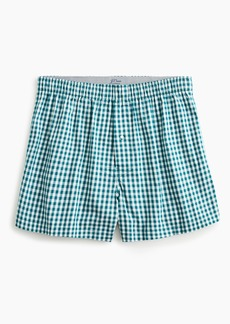 J.Crew Stretch red gingham boxers
