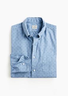 J.Crew Stretch Secret Wash shirt in coffee bean print