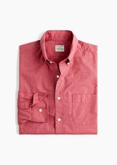 J.Crew Stretch Secret Wash shirt in heathered red print