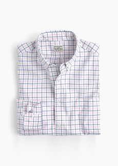 J.Crew Slim stretch Secret Wash shirt in light pink check
