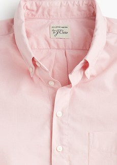 J.Crew Stretch short-sleeve Secret Wash popover shirt in pinpoint oxford