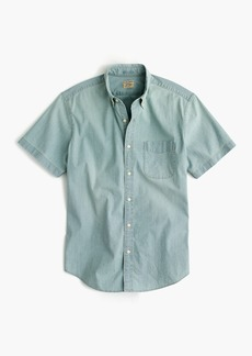 J.Crew Slim stretch short-sleeve shirt in light wash chambray