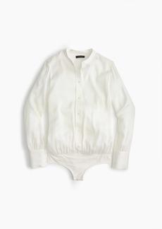 J.Crew Stretch tailored perfect bodysuit in silk