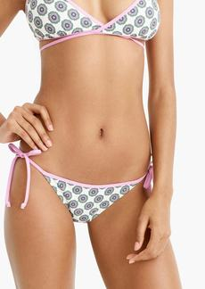 1fede03cf8818 J.Crew String bikini bottom in floral block print with contrast tipping