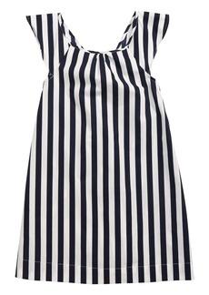 J.Crew Stripe Flutter Sleeve Dress (Toddler Girls, Little Girls & Big Girls)