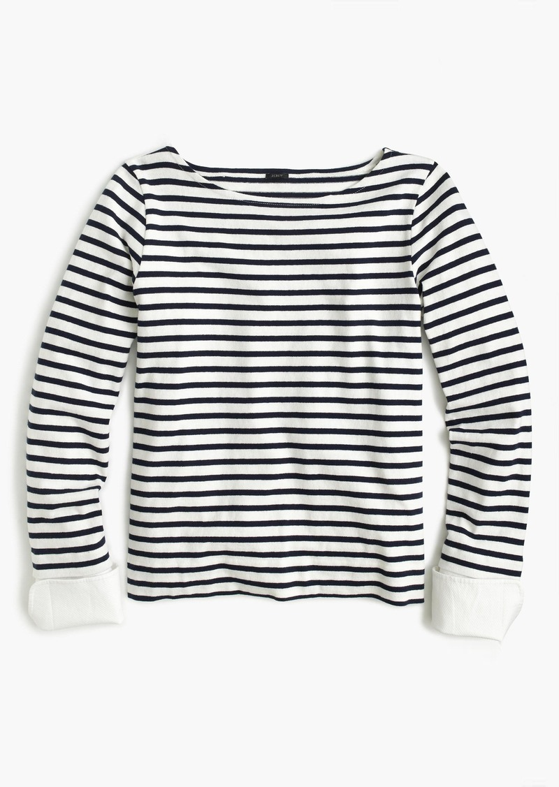12d931fa123d15 J.Crew Striped boatneck T-shirt with built-in cuffs   Casual Shirts