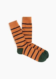 J.Crew Orange striped socks