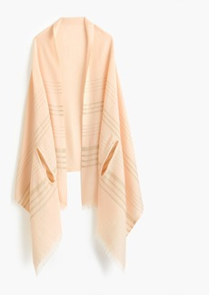 J.Crew Striped cape-scarf