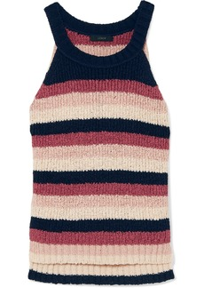 J.Crew Striped Cotton-blend Tank