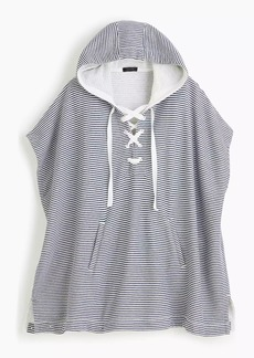 J.Crew Striped cozy beach poncho