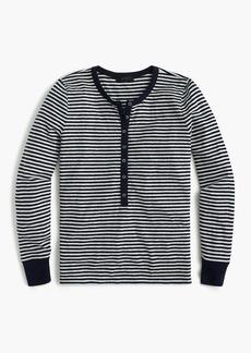 J.Crew Striped henley T-shirt