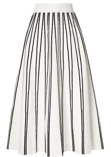 J.Crew Striped Knitted Midi Skirt