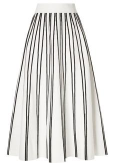 J.Crew Striped Knitted Midi Skirt