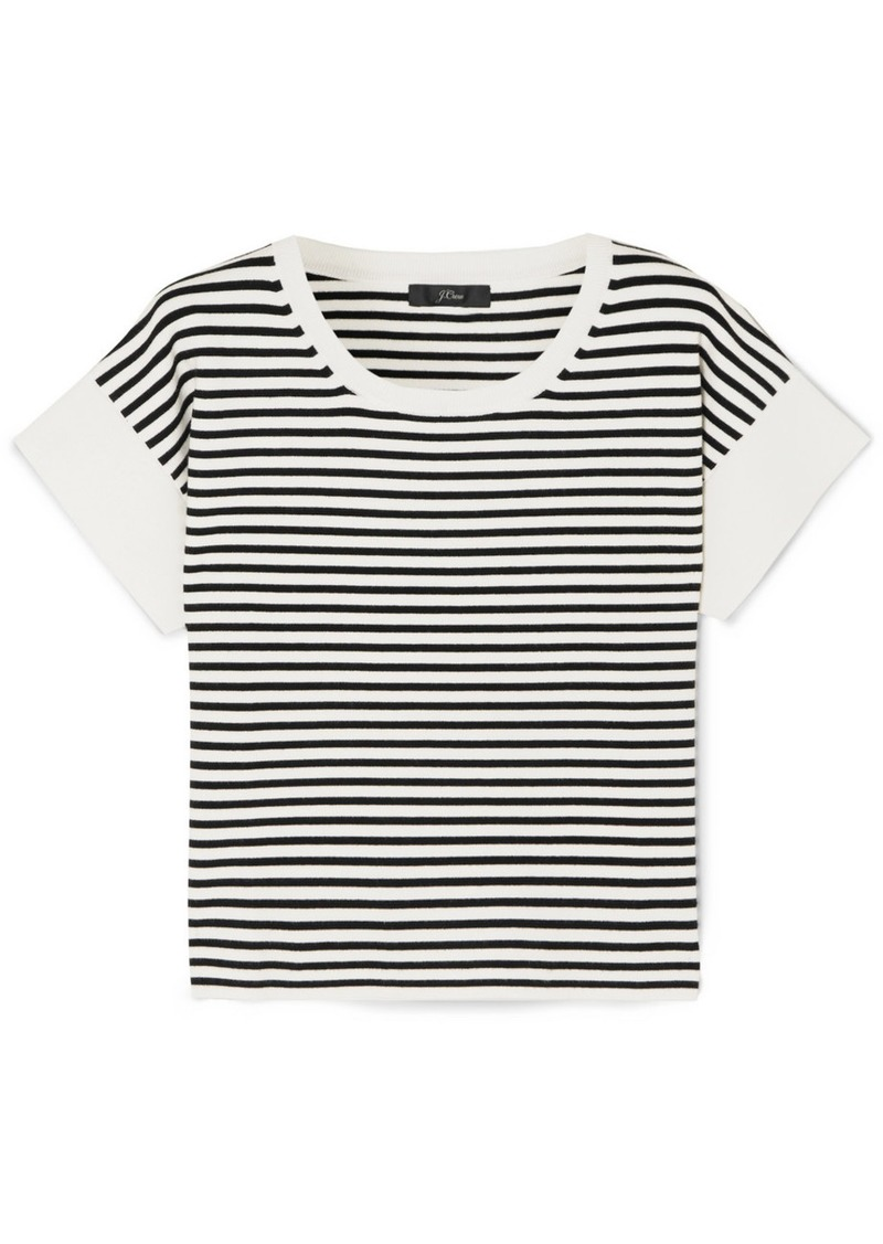 J.Crew Striped Knitted T-shirt