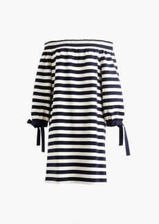J.Crew Striped off-the-shoulder dress