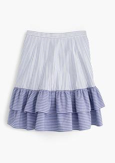 Striped ruffle skirt