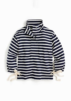 J.Crew Striped snap-neck sweatshirt