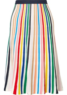 J.Crew Striped Stretch-knit Skirt