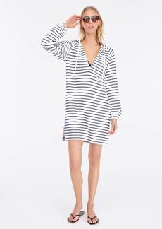 J.Crew Striped terry hoodie beach dress