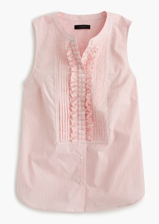 J.Crew Striped top with gingham bib