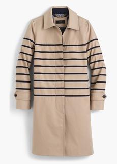 J.Crew Striped trench coat