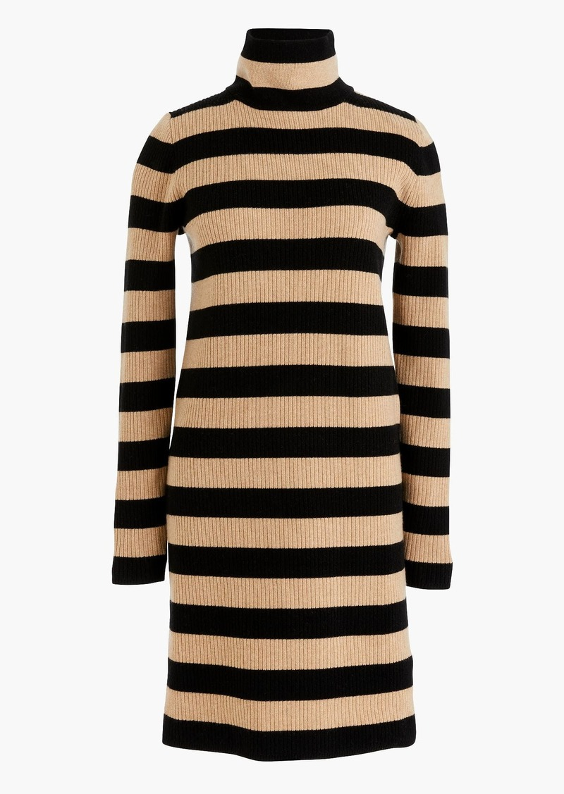 ce89f1c4da5 J.Crew Striped turtleneck sweater-dress