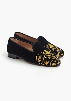 J.Crew Stubbs & Wootton® loafers in black and gold