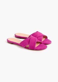 J.Crew Suede Cora crisscross sandals