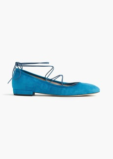 J.Crew Suede lace-up flats