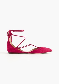 J.Crew Suede lace-up pointed-toe flats