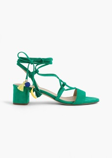 J.Crew Suede lace-up sandals