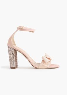 J.Crew Suede sandals with glitter heel