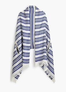 J.Crew Summerweight cape scarf in blue stripe