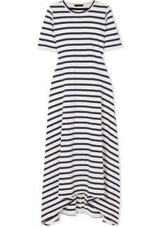 Sunset striped cotton-jersey maxi dress