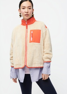 J.Crew Superplush sherpa full-zip jacket